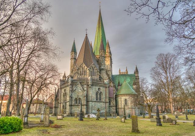 Nidaros Cathedral Trondheim Norway Architecture