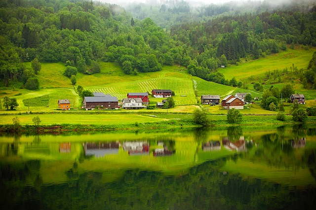 Norway Fjord River Water Reflections Beautiful
