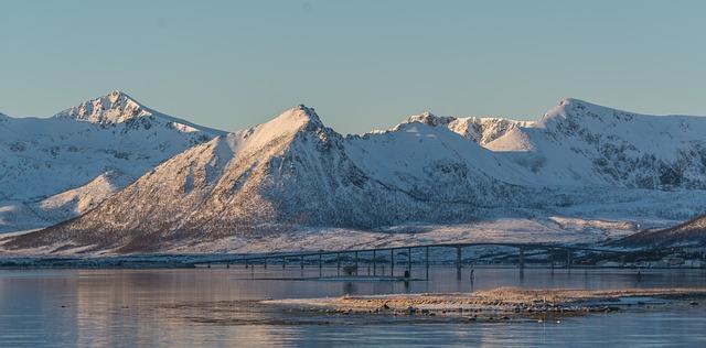 Norway Coast Mountain Scandinavia Sea Landscape