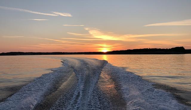 Norway Vestfold Nevlunghavn Boat Evening Sunset