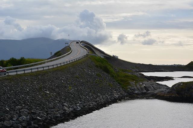 Road Atlantic Norway Away Motivation Sea Travel