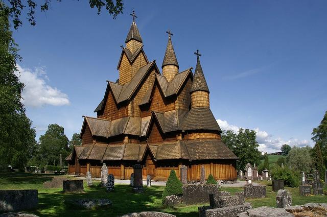 Stave Church Heddal Norway Wood