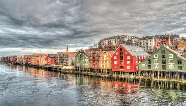 Trondheim Row Houses Norway Architecture Colorful